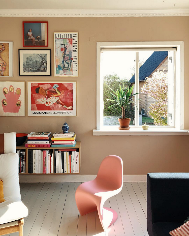 My Scandinavian Home: A Gallery Wall On A Nougat Wall In A