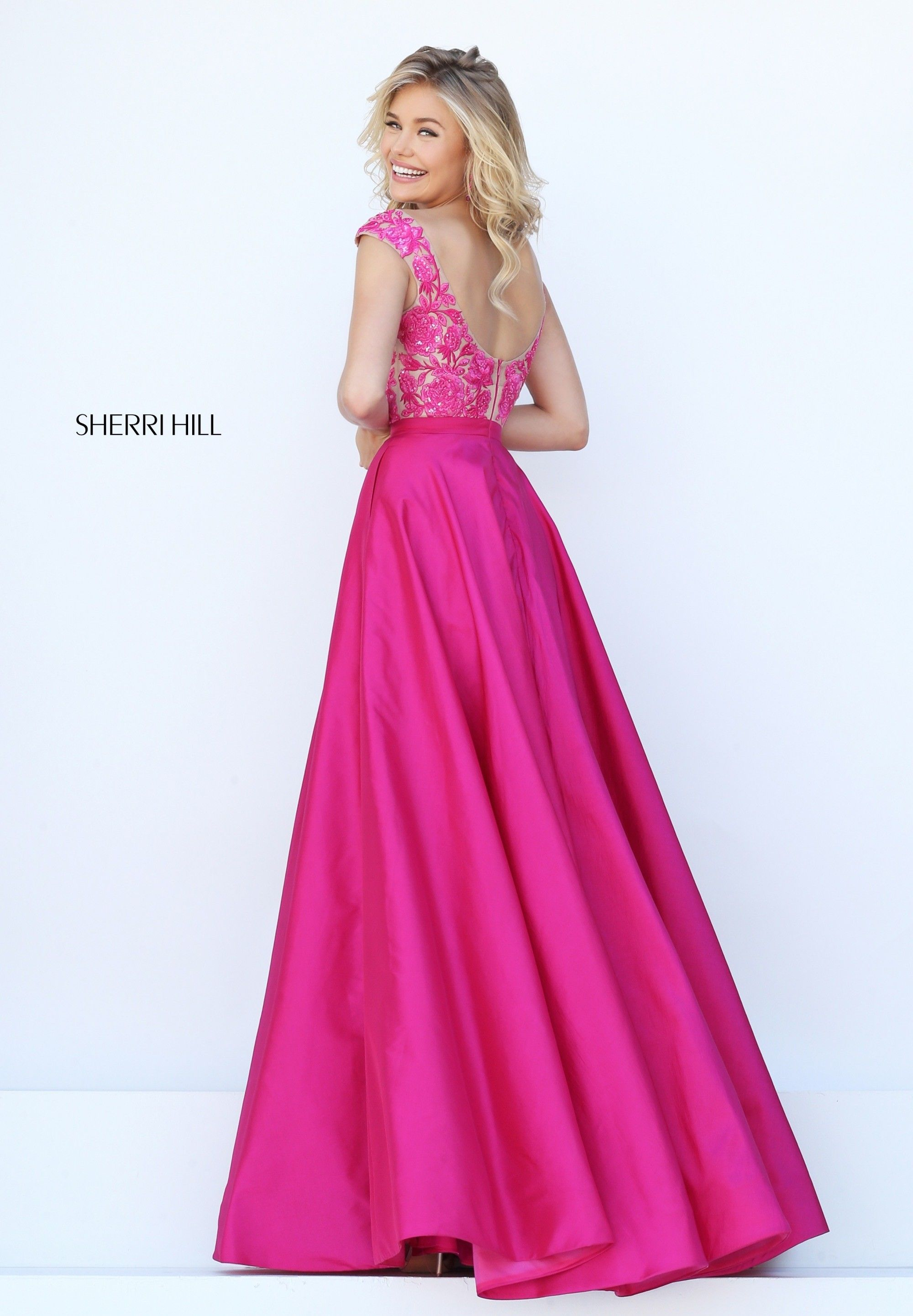 d24d3bf60b159 Sherri Hill 50346 Scoop Back Prom Dress in 2019 | Pink Dresses ...