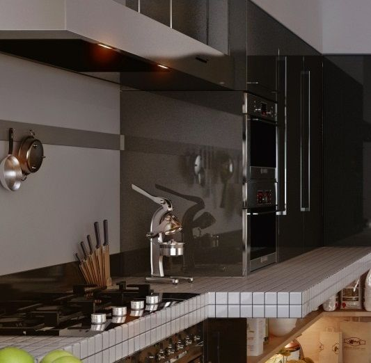 Adorable modern eclecticism interior designs amazing modern kitchen grey glossy cupboard worldly apartment in kiev