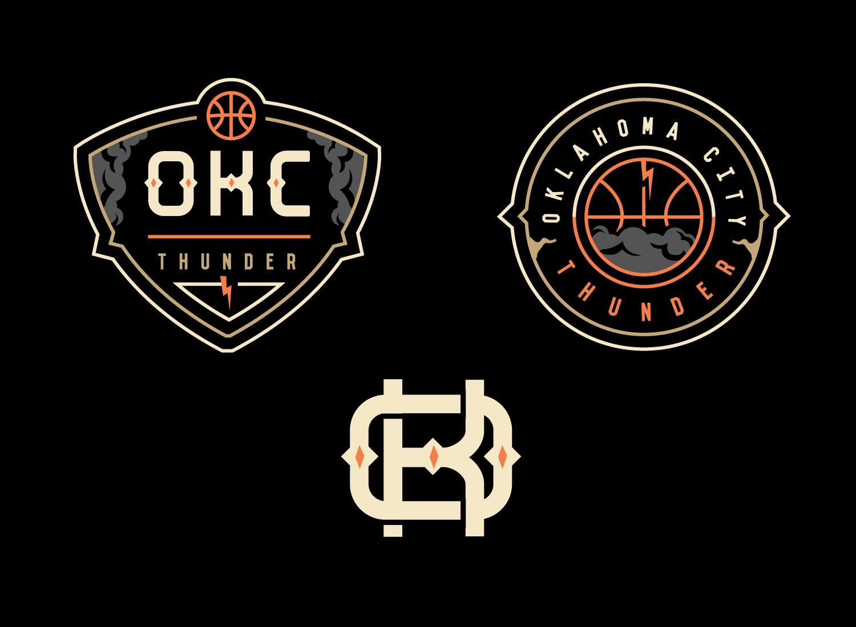 Okc Thunder Logo Concept Update Sports Logo Inspiration Sports Logo Design Logo Design Inspiration Branding