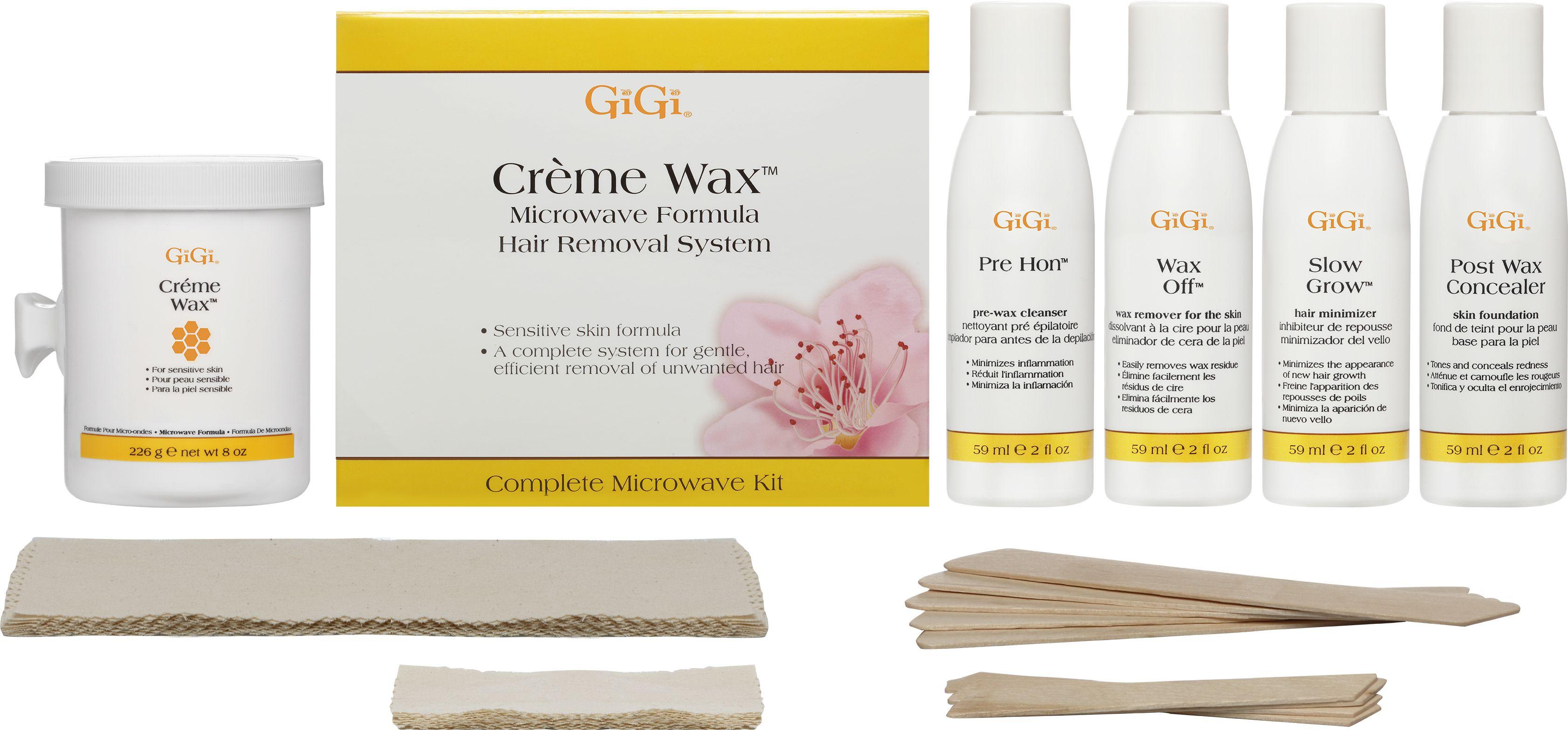Creme Wax Microwave Kit Includes A Gentle Wax Formula Recommended For Sensitive Skin Gigi Gigispa Waxi Waxing Kit Brazilian Bikini Wax Sally Beauty Supply