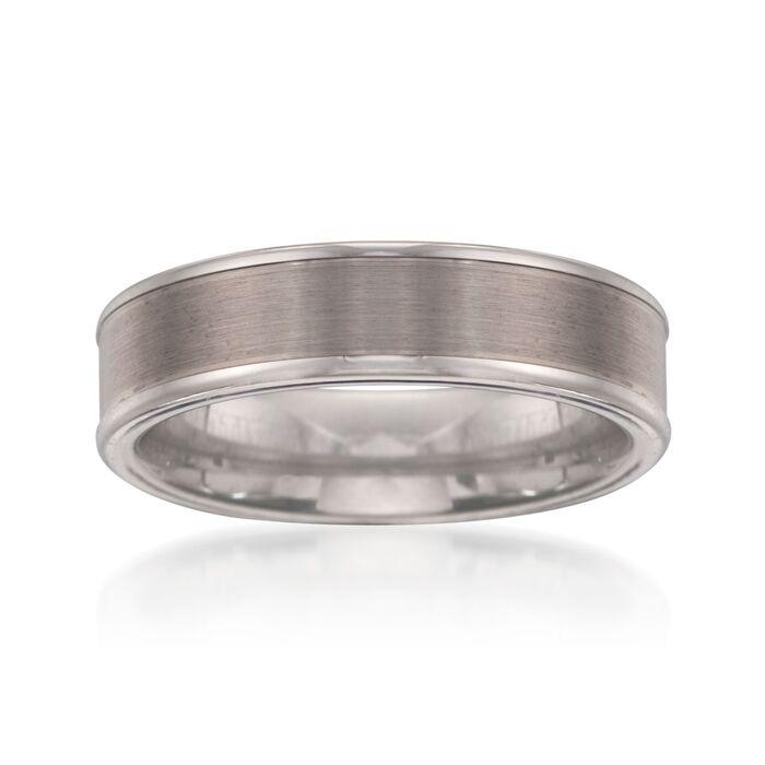 Men's 6mm Tungsten Carbide Wedding Ring RossSimons in