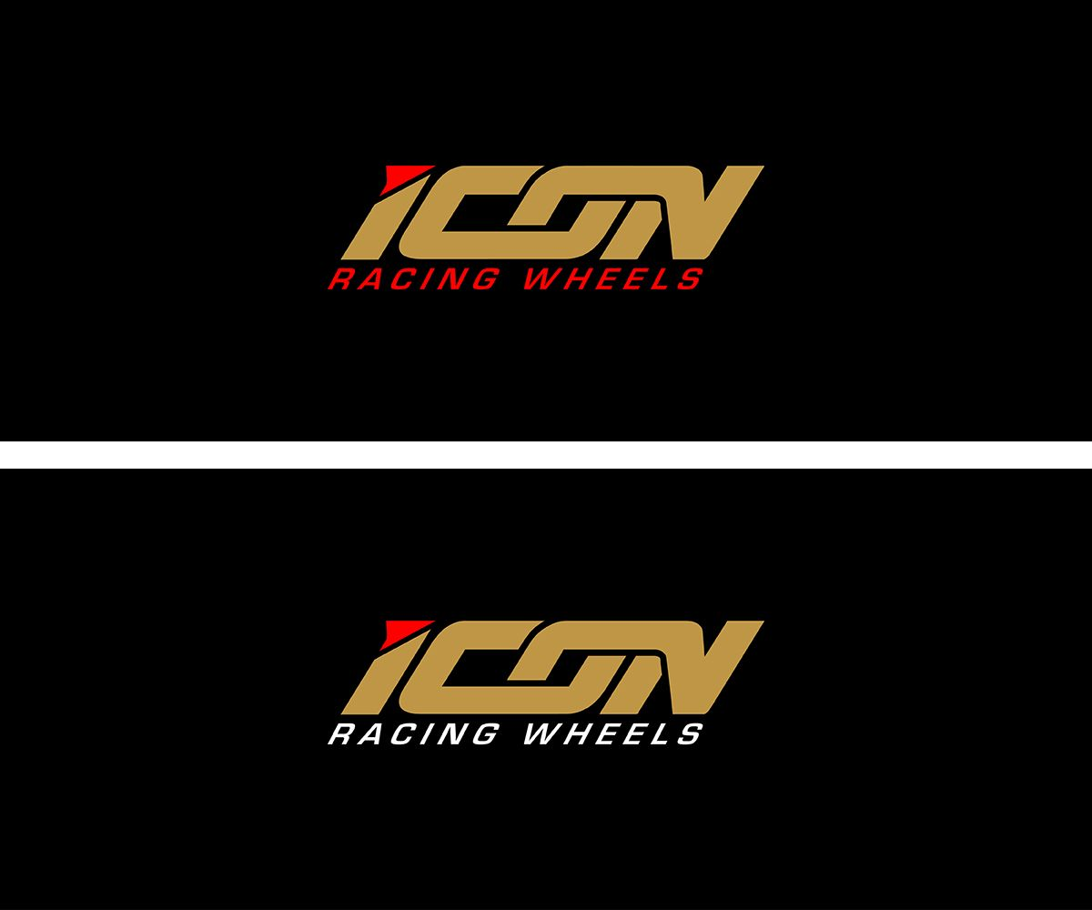icon racing wheels logo forged racing wheels masculine bold