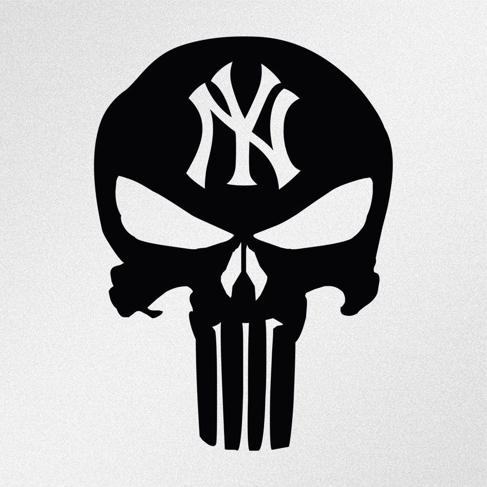 Details about Punisher Skull New York Yankees Car Laptop