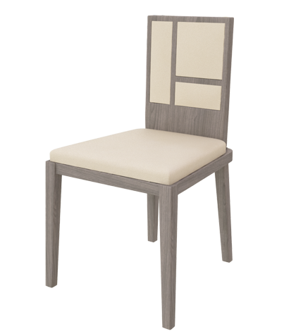 Fragment Square Dining Chair Massive Oak With Artificial Leather Beauteous Beige Leather Dining Room Chairs Inspiration