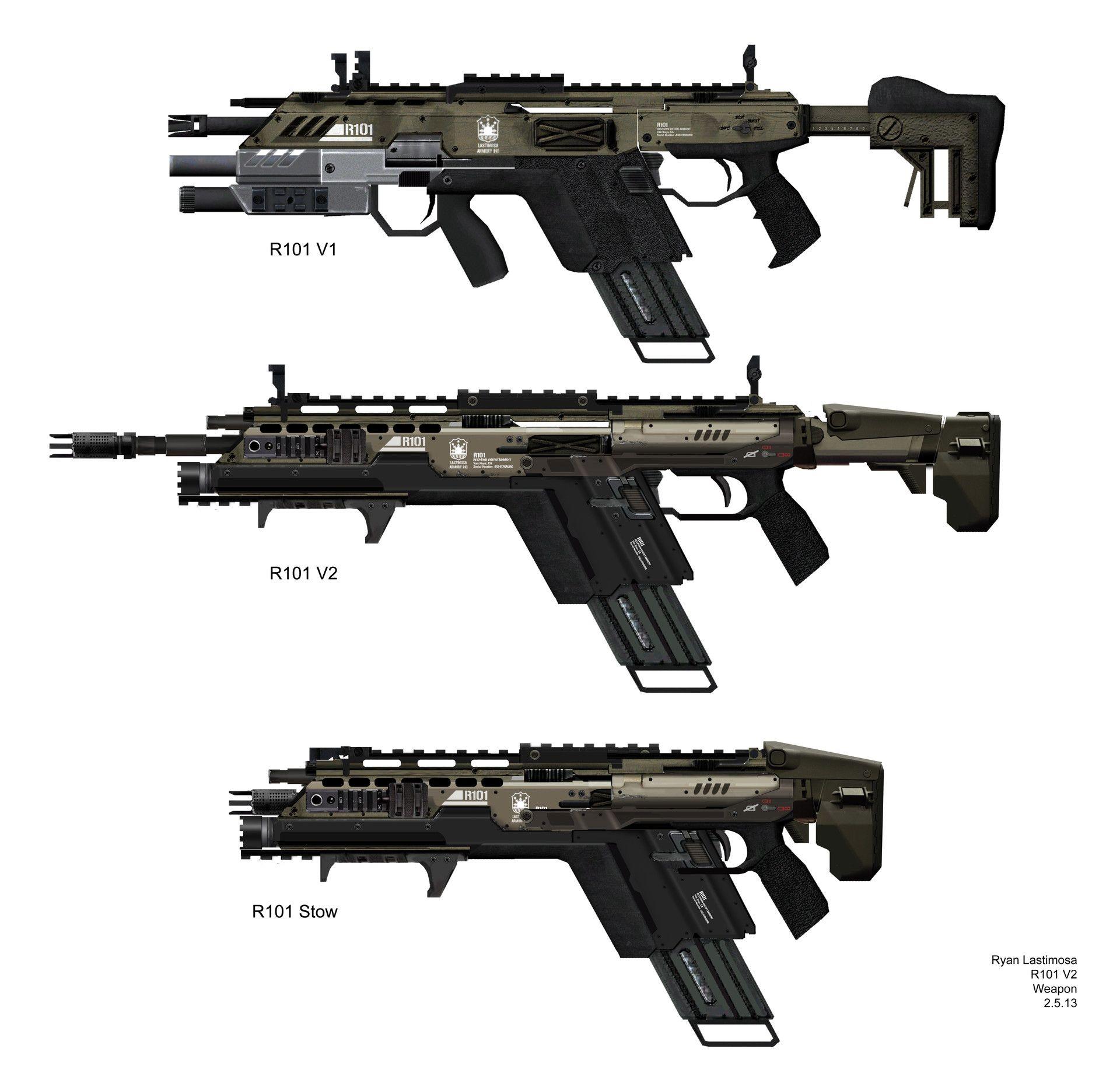 titanfall 1 r101c assault rifle by ryan lastimosa on