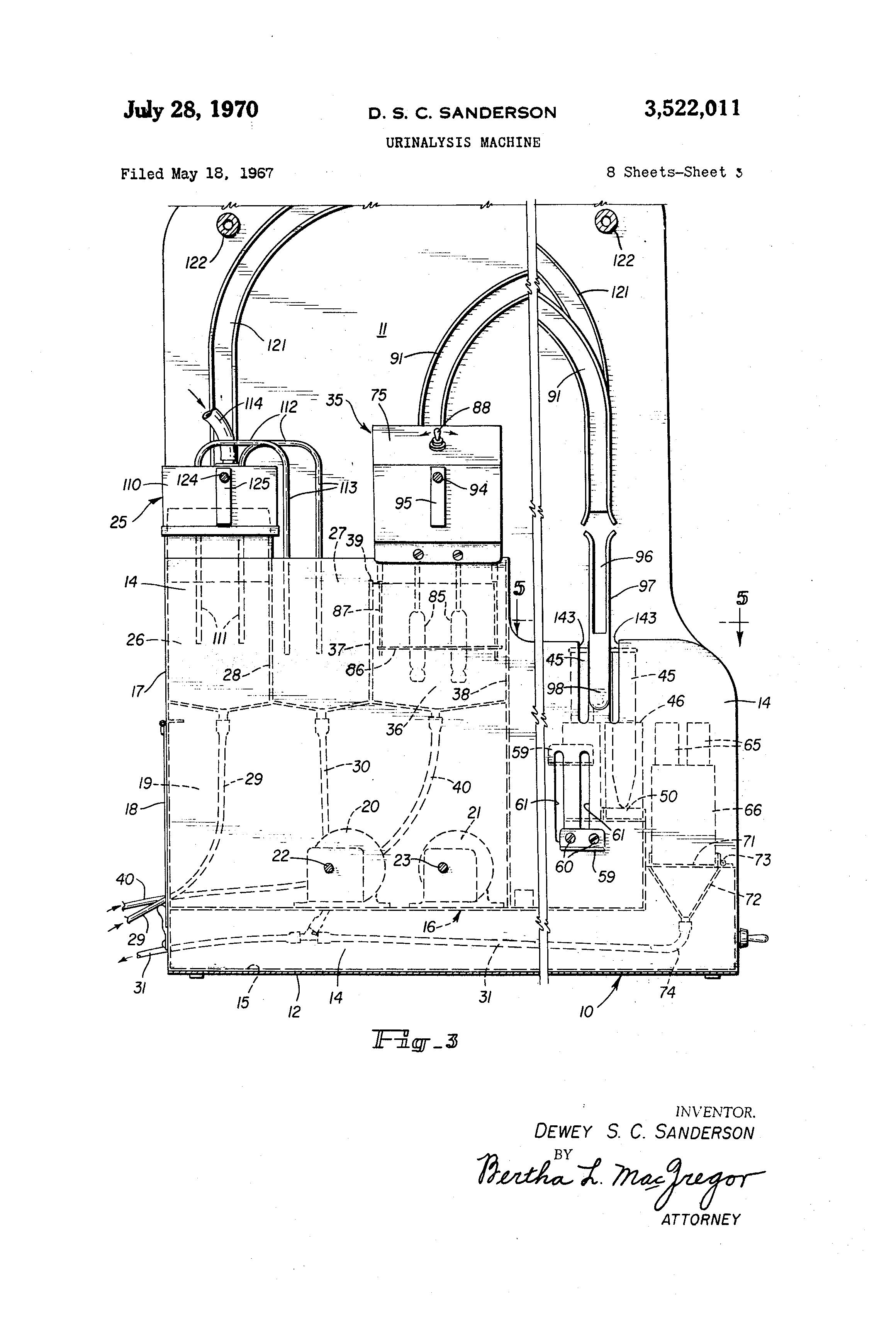 a black man dewey sanderson invented the urinalysis machine  [ 2320 x 3408 Pixel ]