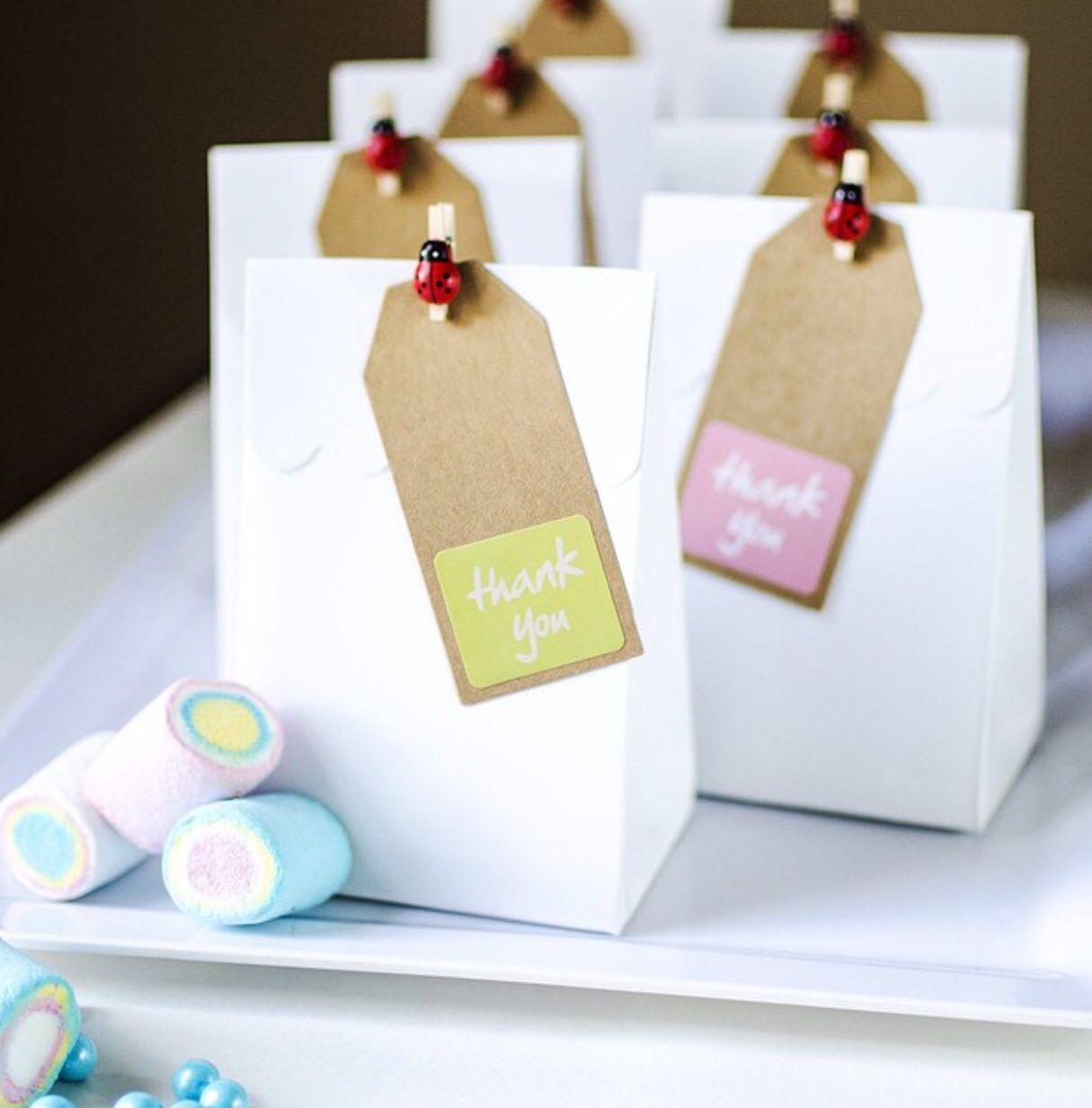 Gorgeous favor bags and pegs are perfect for a woodland/ fairy party ...