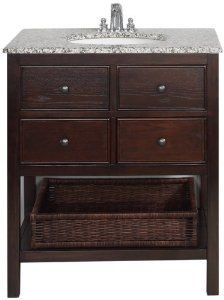 Amazon Com Simpli Home Nl Hhv022 30 2a Burnaby Collection 30 Inch Bath Vanity Dark Walnut Brown 1 Pack Home Simpli Home Brown Bathroom Vanity Bath Vanities