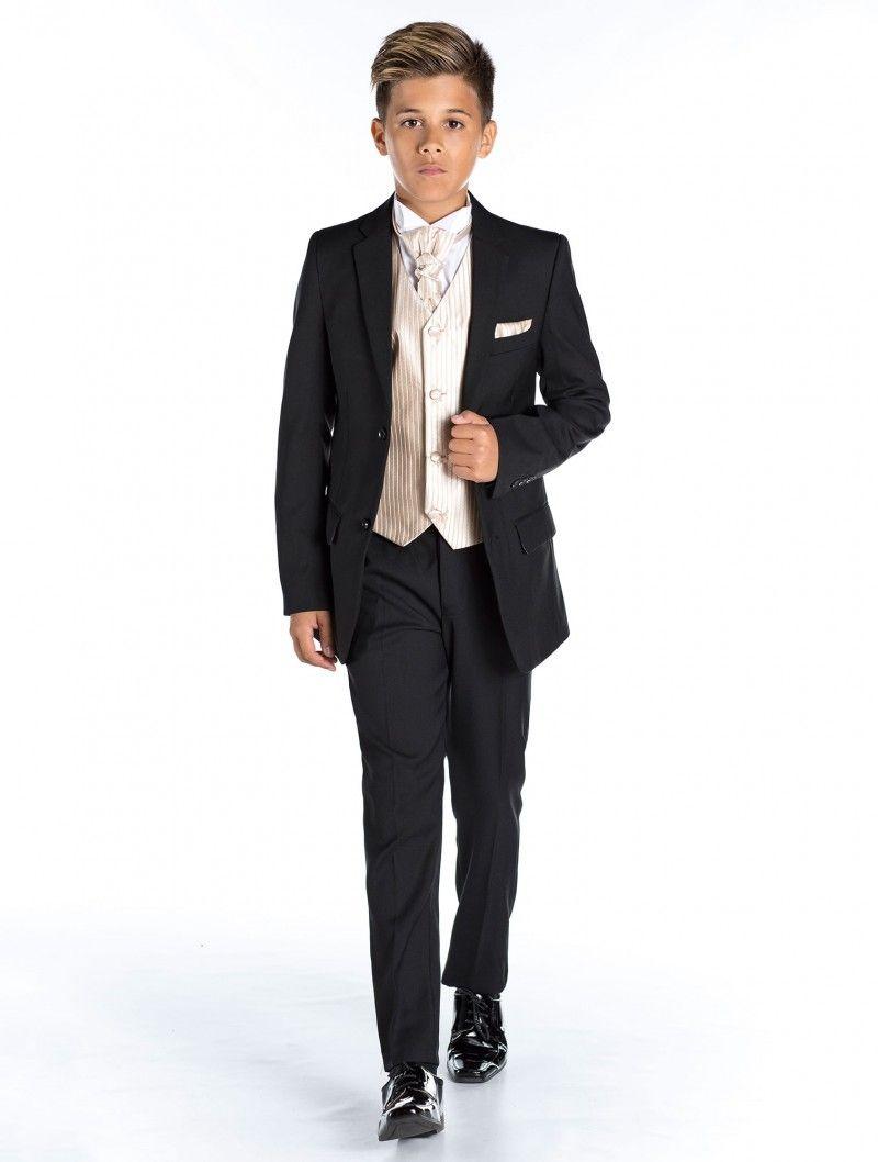 46e466ad209920 Boys black suit | Page boy suits | Black suit & waistcoat | Charles | Roco