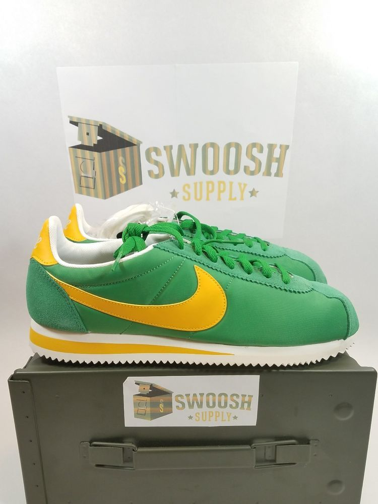 dae771d6d23 Womens Nike Classic Cortez Nylon PREM 882258-301 Green New Size 8.5  Nike   Running