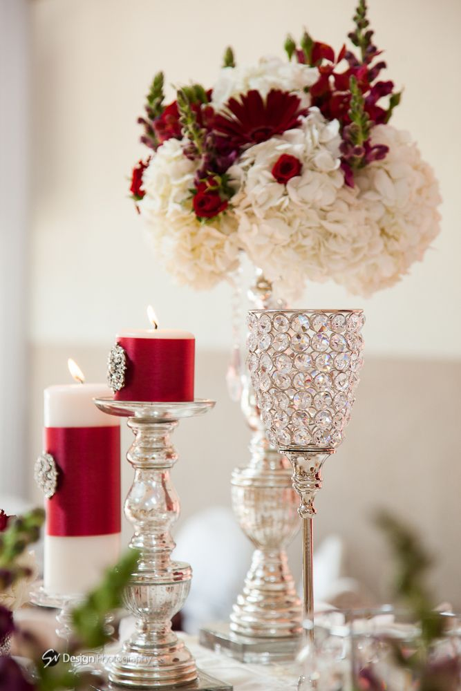 Wedding Decor red & white