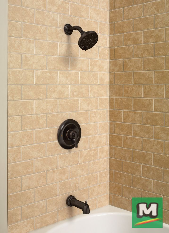 Bring chic style to your bathroom with a Moen® Gibson Posi-Temp® Tub ...