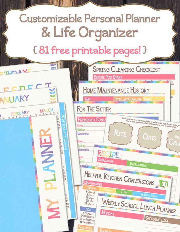 It is a picture of Free Personal Planner Printables regarding weekly planner