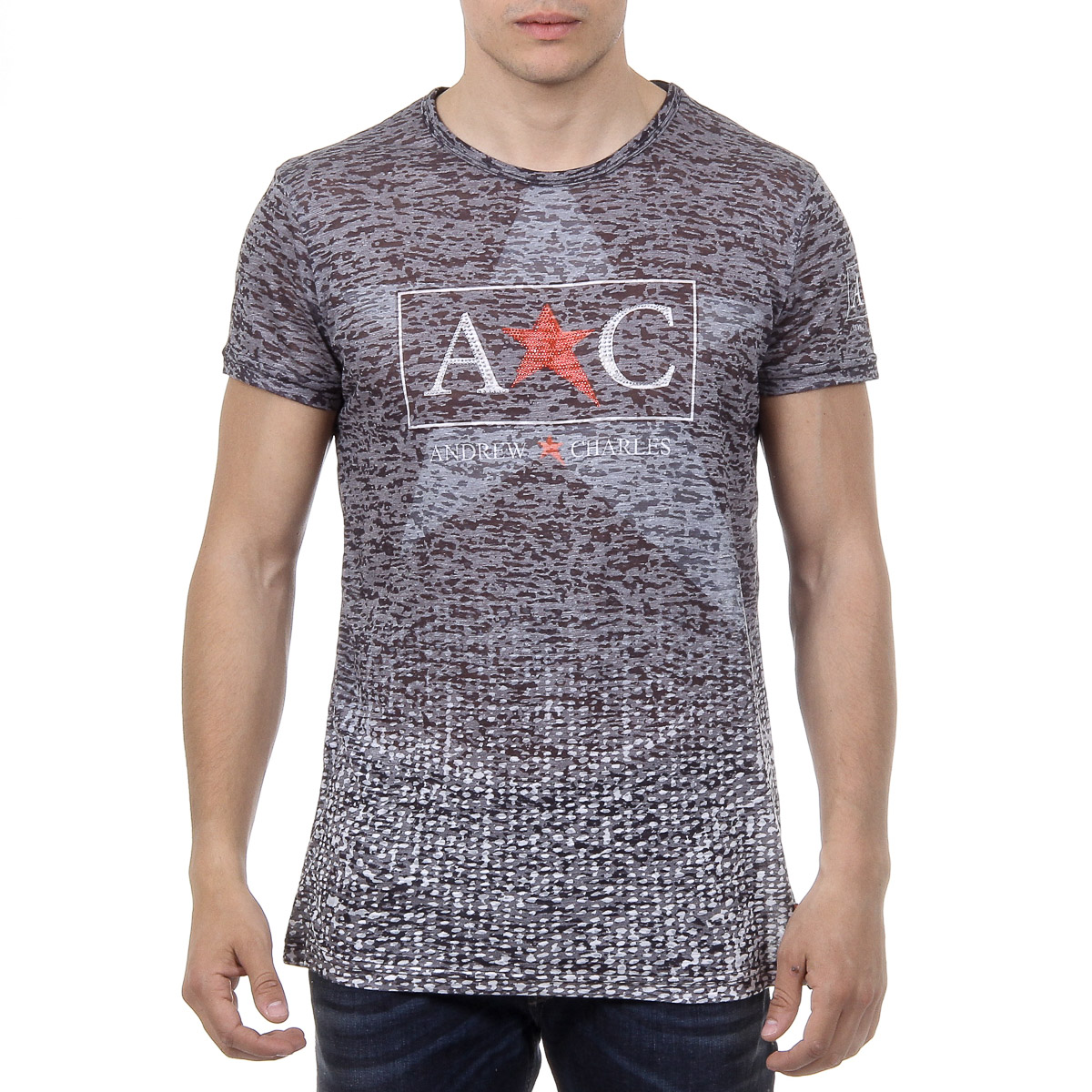 c258bc4583a4 Andrew Charles Mens T-Shirt Round Neck Short Sleeves   Products   Sleeves,  Mens tops, Light blue