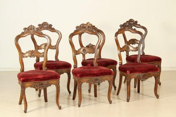 Sedie Antiquariato ~ Gruppo sei sedie #antiquariato #dimanoinmano video antiquariato