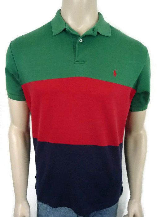 Clearence 65OWIJVR Men Shop Latest Style Ralph Lauren Breathable White Collar Color Strip Polo