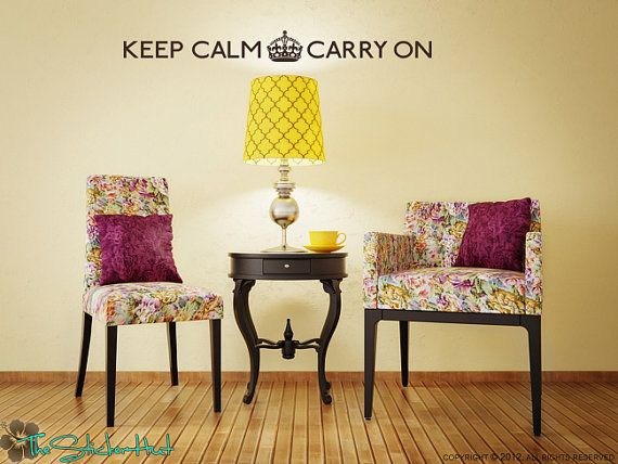 Keep Calm Carry On Vinyl Wall Art Graphic by thestickerhut on Etsy ...