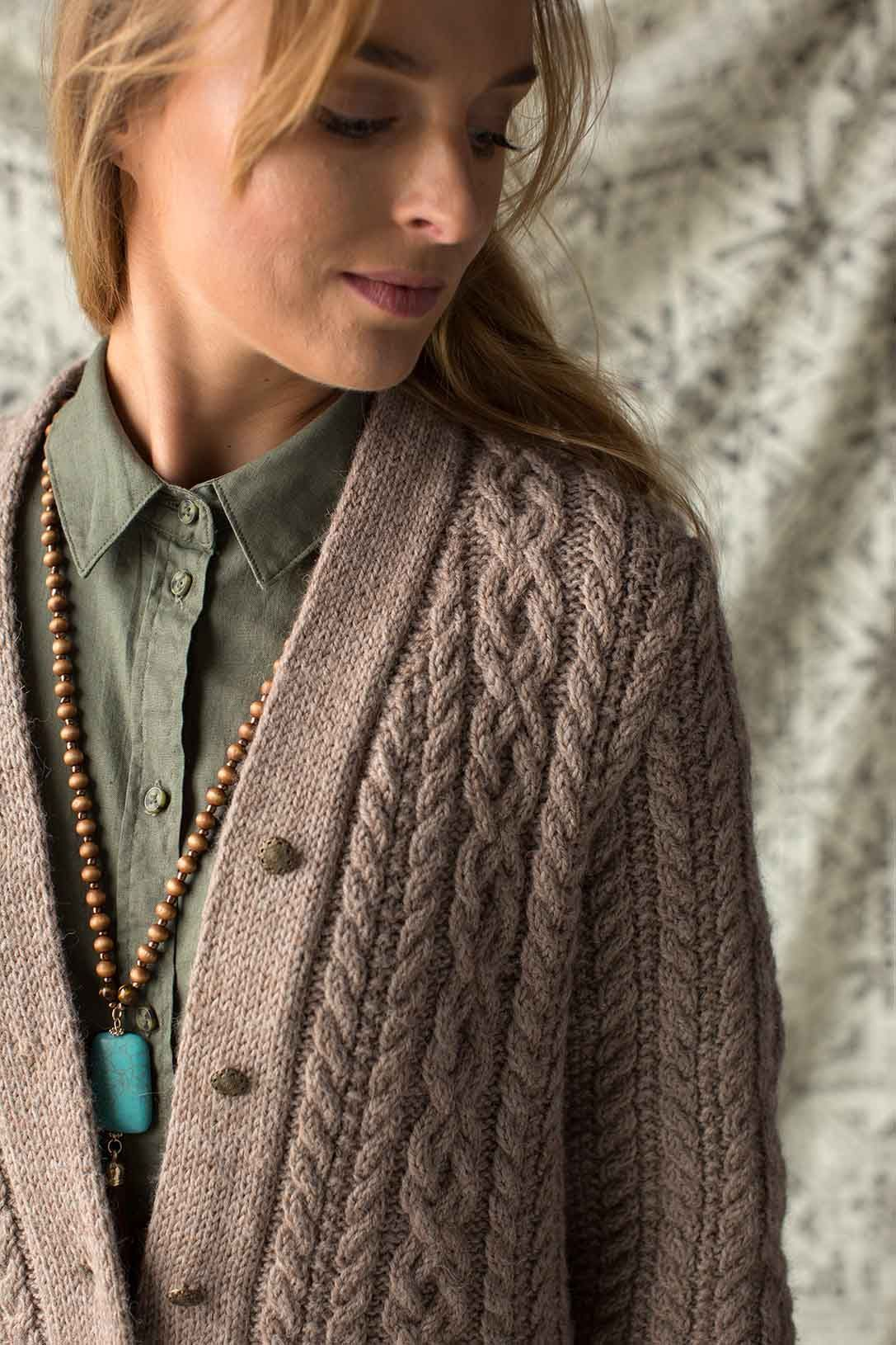 6ba30eae8 Curl up with the Clear Creek Cardigan by Sarah Solomon. This standout  modern classic cardigan knitting pattern showcases all the best