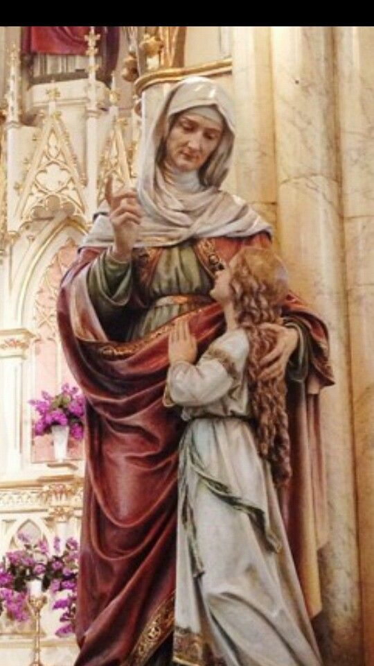 St. Anne, mother of Mary, grandmother of Jesus, please pray for us.