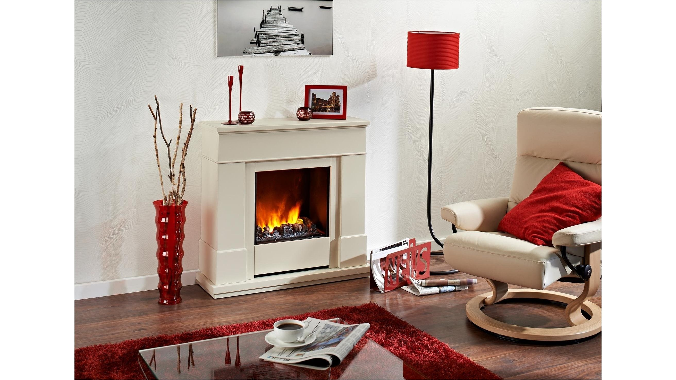 Dimplex 2kw Moorefield Electric Fire With Mantle And 3d Opti Myst