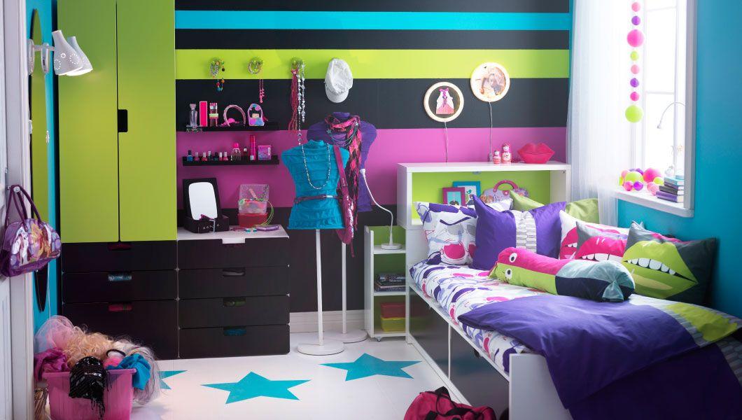 Dormitorio infantil IKEA con armario y cama con almacenaje | jhoan ...
