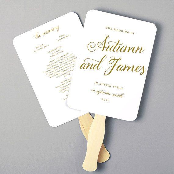 Wedding Anniversary Program Ideas: Instant Download DIY Wedding Program Fan By SwellAndGrand