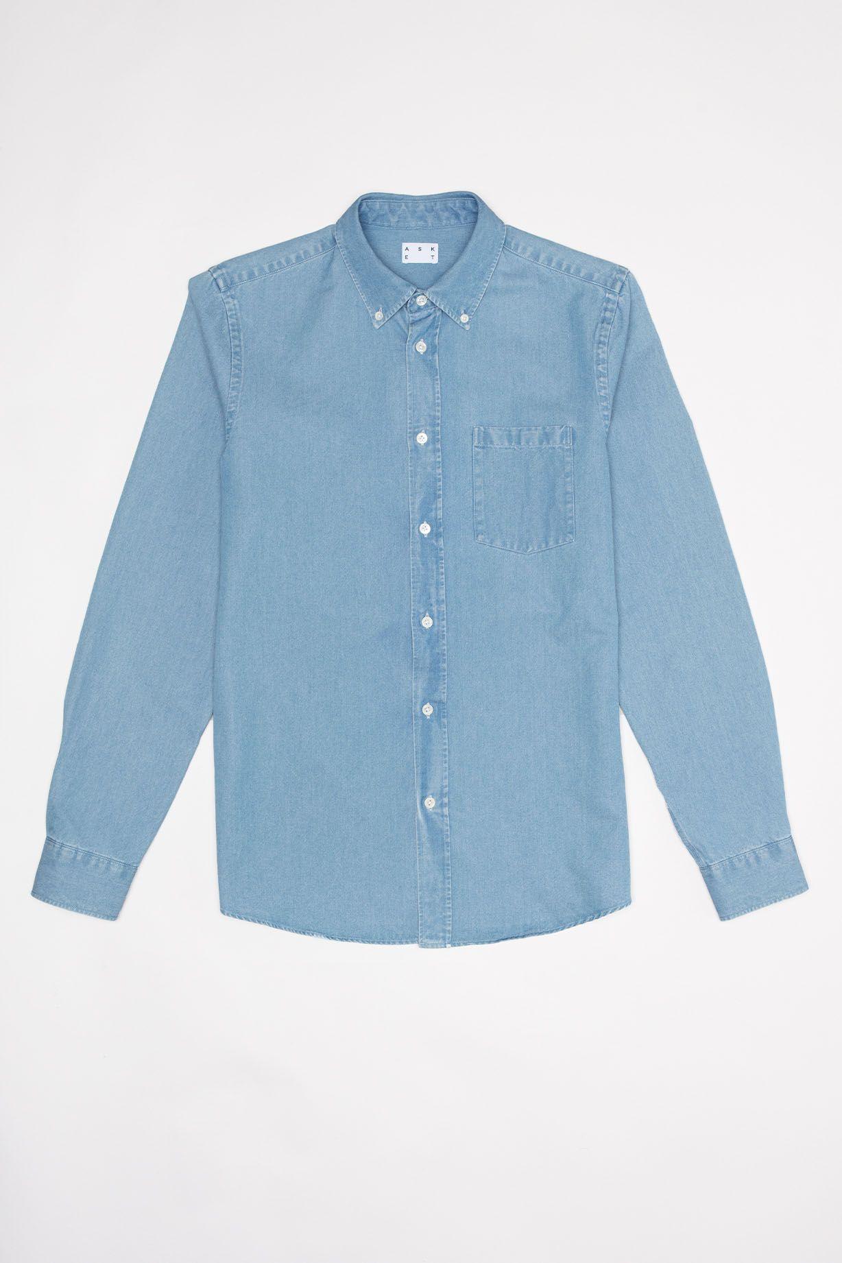 58ea0053f6a The Denim Shirt  Men s Washed Button Down Denim Shirt