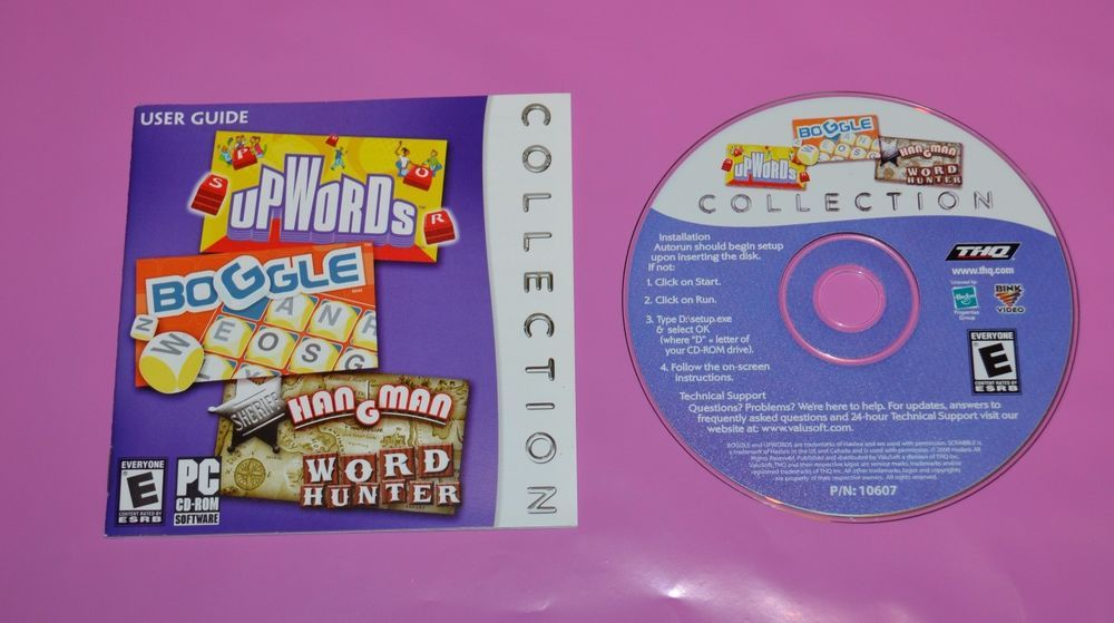 Upwords Boggle Hangman Collection Pc Game 10607