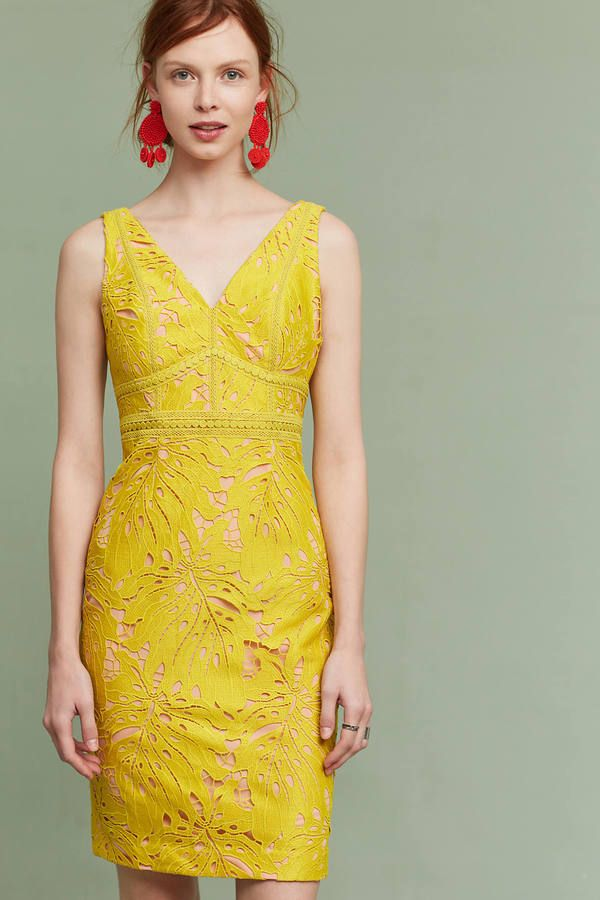 234437baef8 Yellow dress + Red statement earrings | Color Schemes in 2019 ...