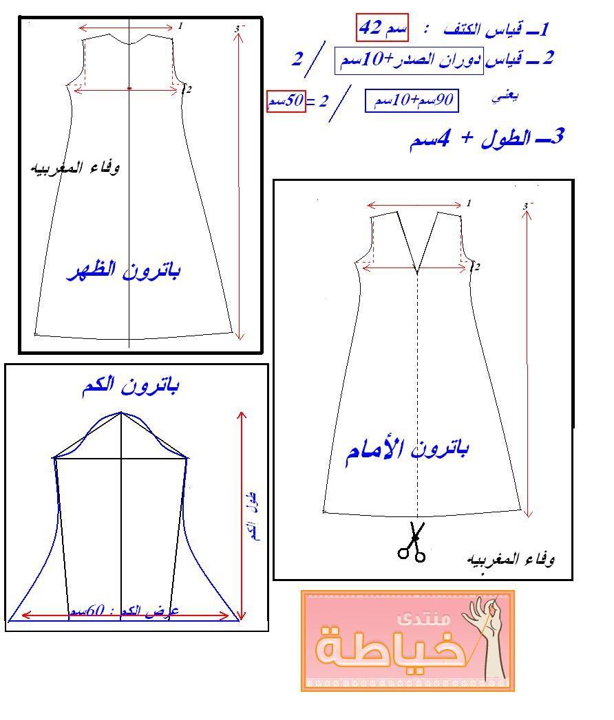 كيفية خياطة عباية شيك طريقة خياطة عباية شيك لخياطة عباية شيك Teaching Sewing Sewing Lessons Sewing Patterns