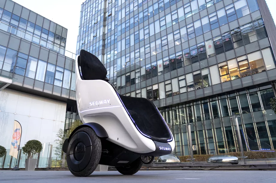 Segway S Newest Self Balancing Vehicle Is An Egg Shaped Wheelchair In 2020 Segway Personal Transporter E Scooter