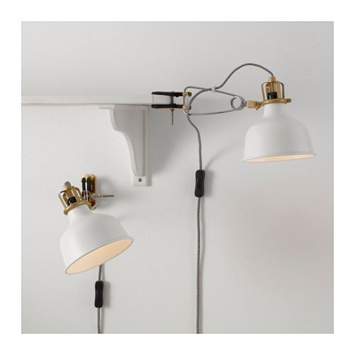 RANARP Wall/clamp spotlight, off-white - Slaapkamer lampen, Lampen ...