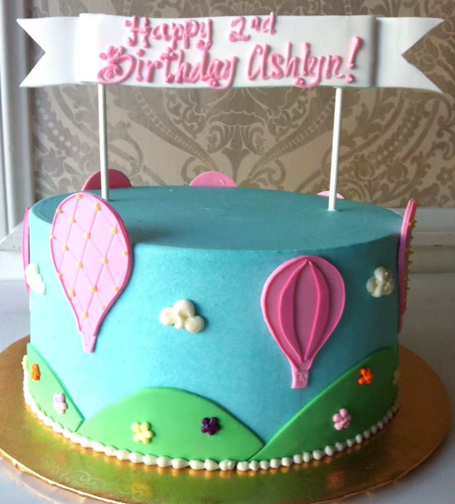 hot air balloon birthday cake Balloons Cake Girls 4th Birthday