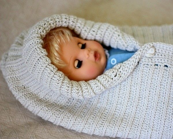 Crochet Pattern Pdf File Knit Look Baby Bunting Carolina And