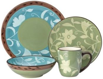 Pfaltzgraff Patio Garden 16pc Dinnerware Set in Spring Big Book Pt 2 ...