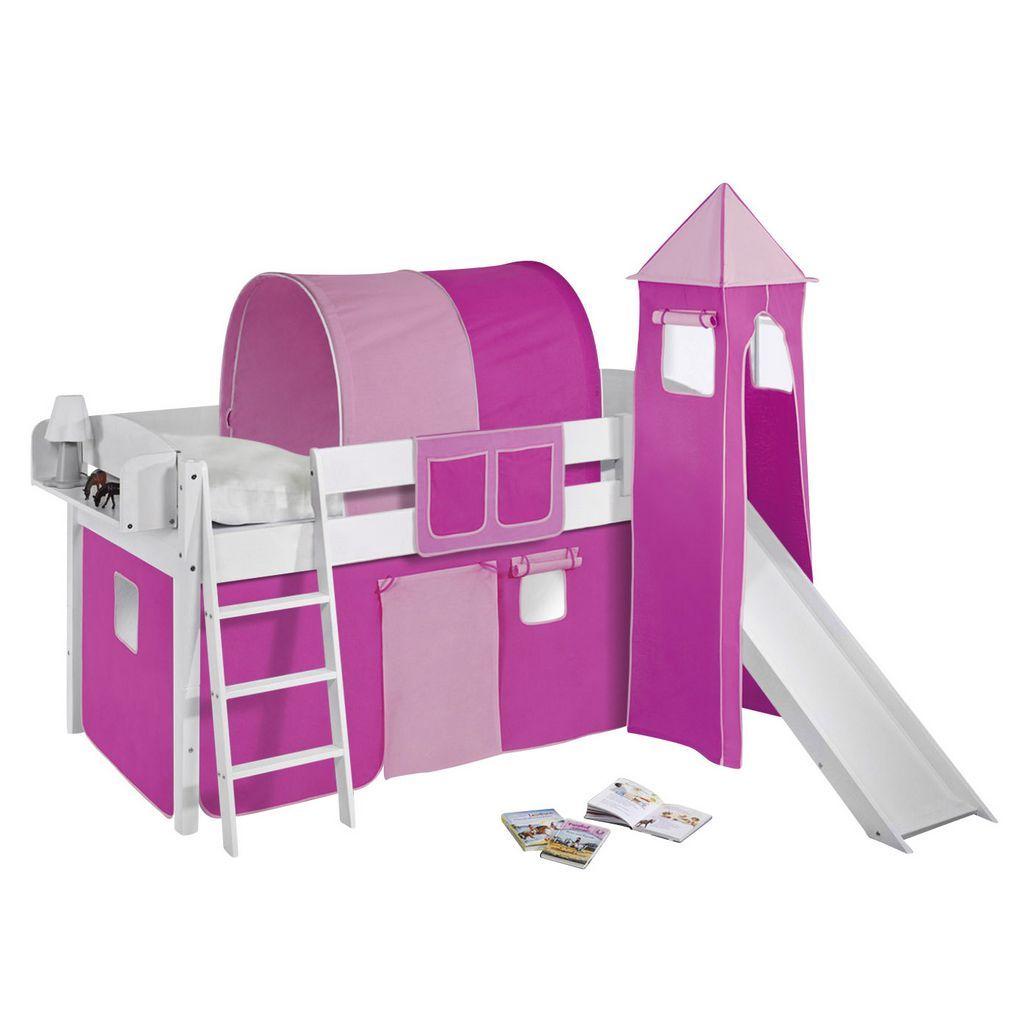 Spielbett Ida Kiefer Massiv Weiss Rosa Pink Mit Rutsche Lilokids Jetzt Bestellen Unter Https Moebel Ladendirekt Spielbett Etagenbett Mit Stauraum Bett