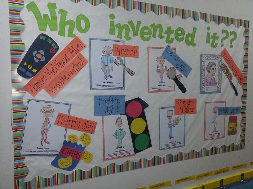 Black Inventors Bulletinboard Blackhistory Who Invented It February Black History Month Activities Black History Activities Black History Month Crafts Black history art for preschoolers