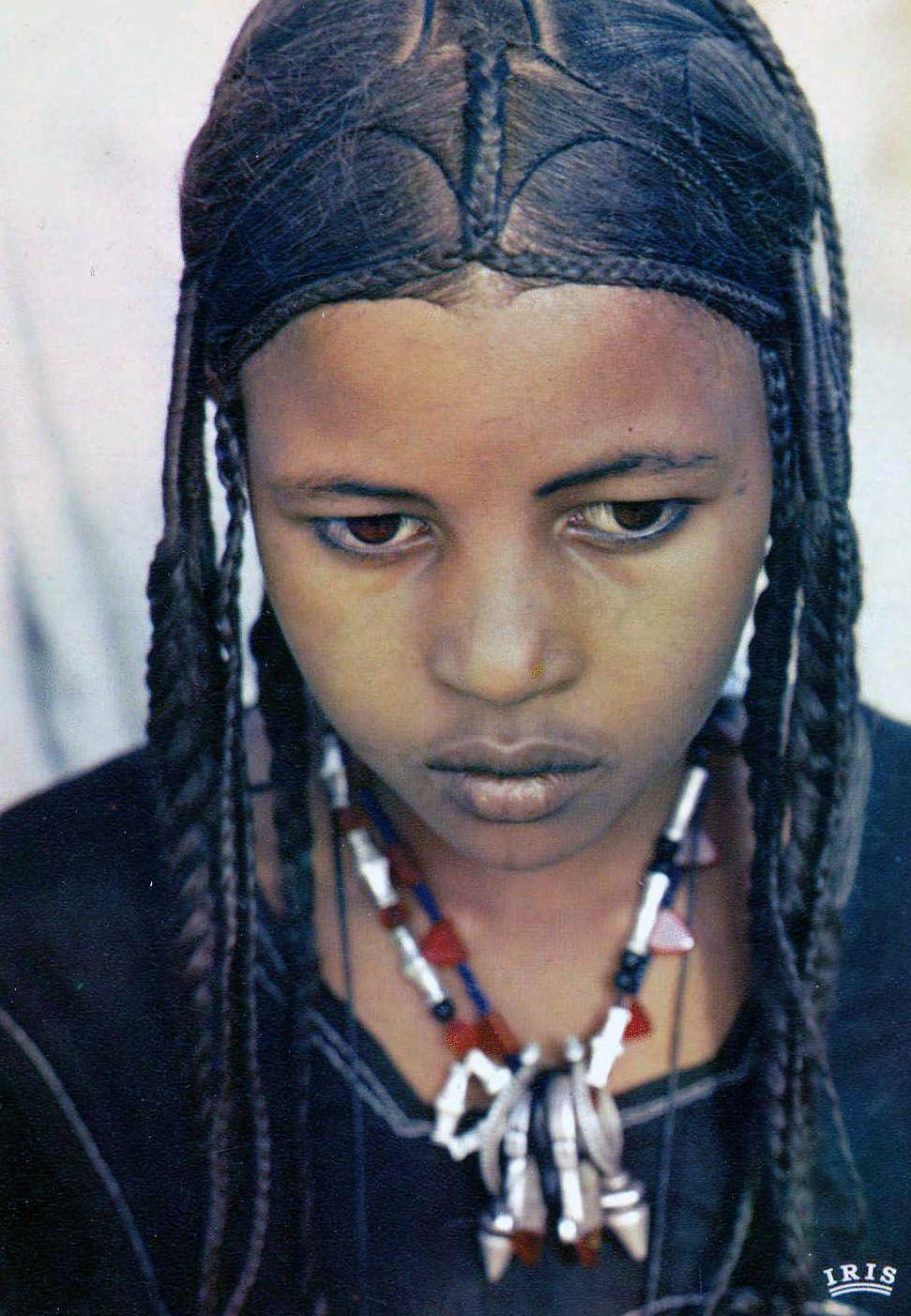 Africa Tuareg Girl Niger Scanned Postcard Image