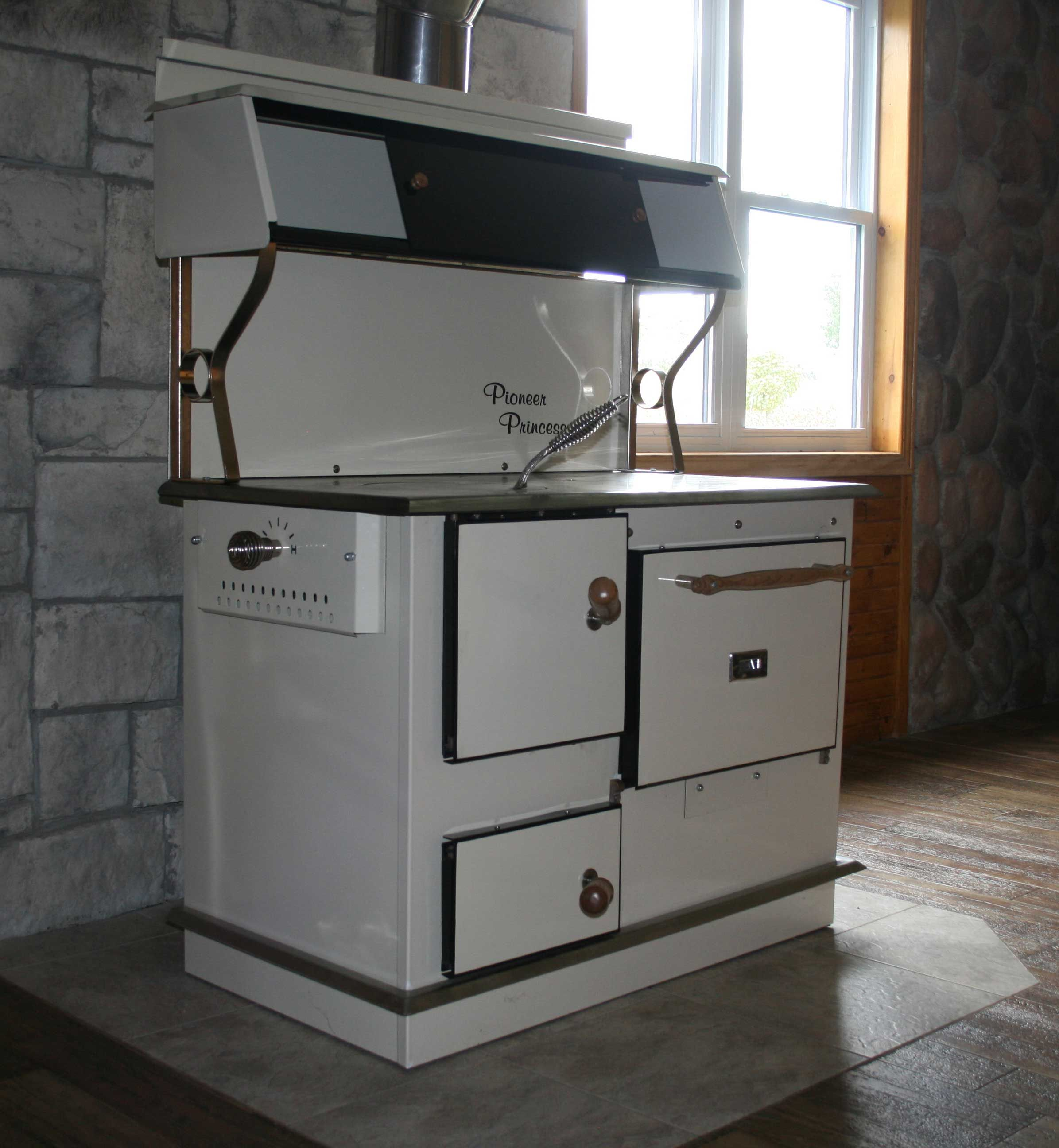 Pioneer Princess Almond Cook Stove with air control lever, 20 gal ...