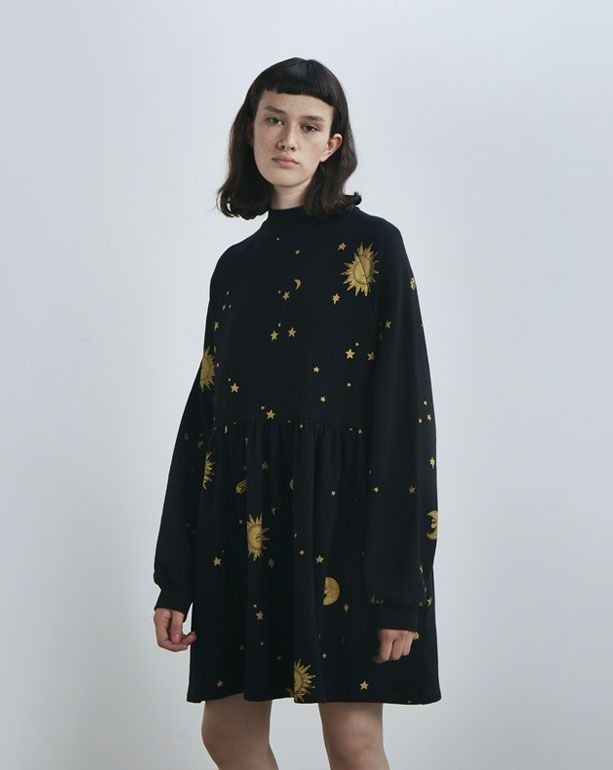 3d4083126ee Lazy Oaf Golden Galaxy Sweater Dress - Dresses - Categories - Womens ...