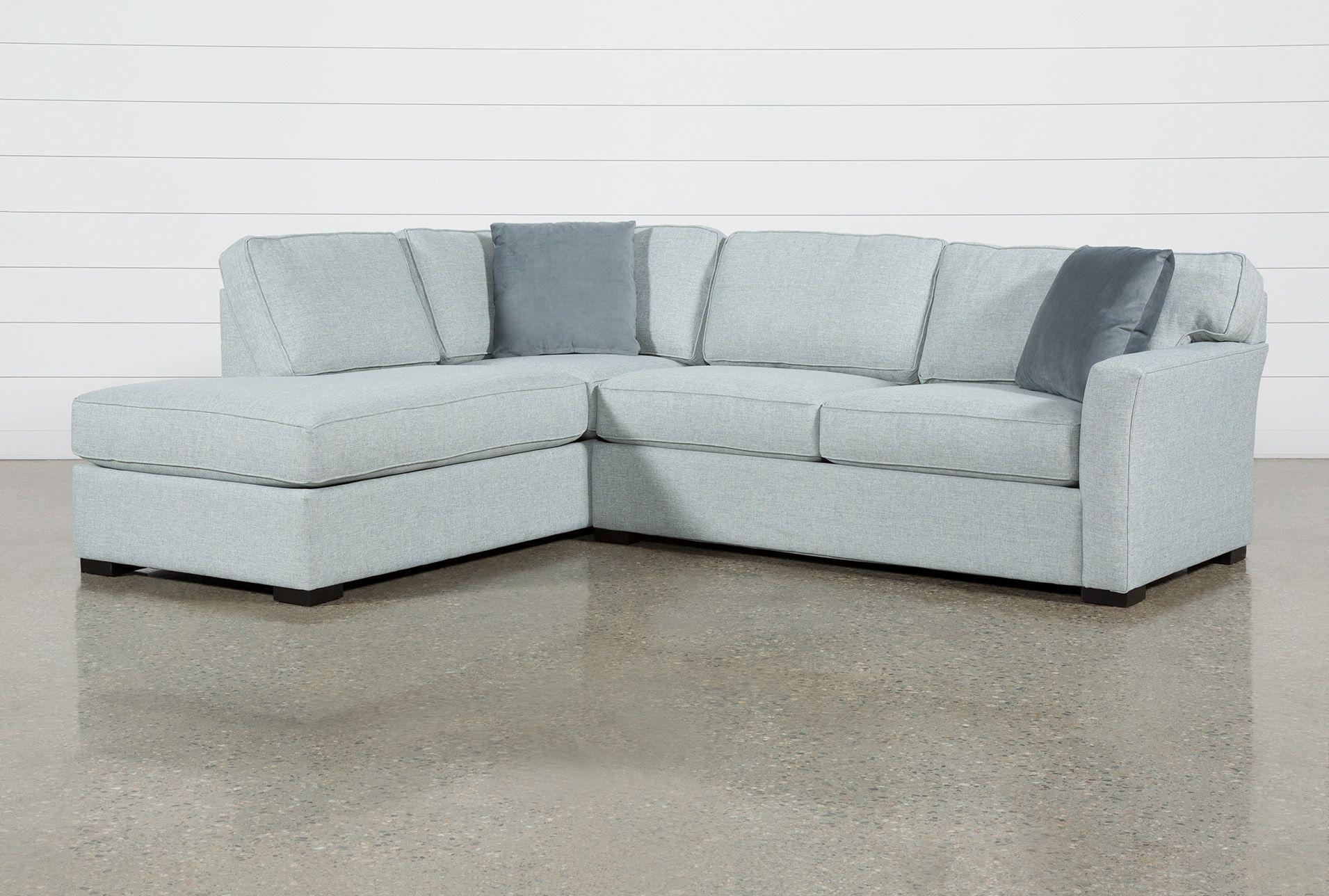 Stupendous Aspen Tranquil 2 Piece Sleeper Sectional With Left Facing Short Links Chair Design For Home Short Linksinfo
