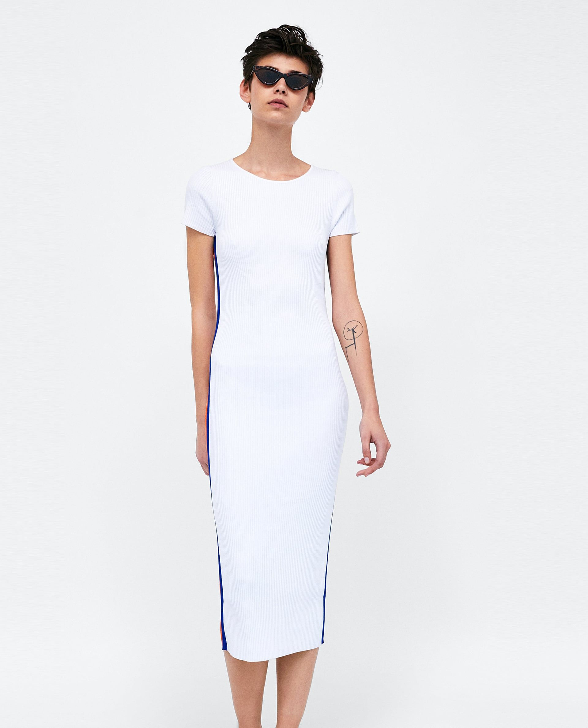 e5215423b9df Image 1 of KNIT DRESS WITH SIDE STRIPES from Zara