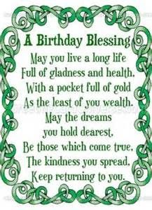 Irish Birthday Blessings For Friends