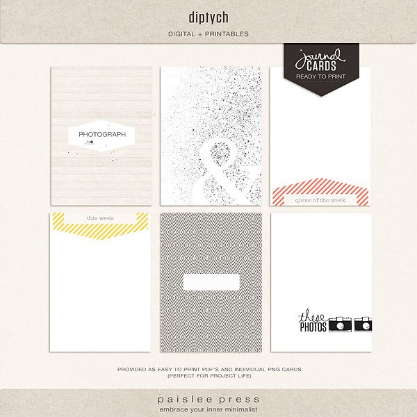 The Lilypad :: Journal Cards :: diptych journaling cards no. 2