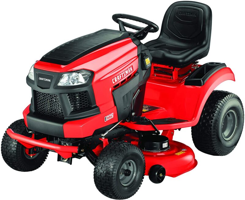 Craftsman E225 42 In Lithium Ion Riding Mower 56v Electric Powered Lawn Mower Fast Charg Best Riding Lawn Mower Riding Lawn Mowers Craftsman Riding Lawn Mower