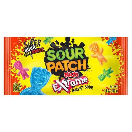 Sour Patch Kids Extreme Sour Soft Chewy Candy 1 8 Oz Bag Sour Patch Kids Sour Patch Chewy Candy