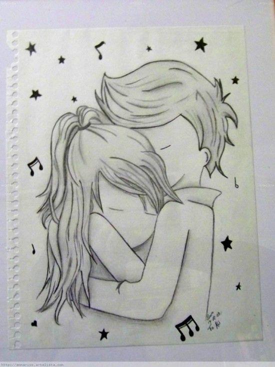 DIBUJOS de AMOR → Imágenes de Amor Bonitas para Colorear o Dibujar