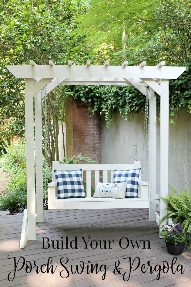 Diy Porch Swing Amp Pergola Farmhouse Style Amp Living