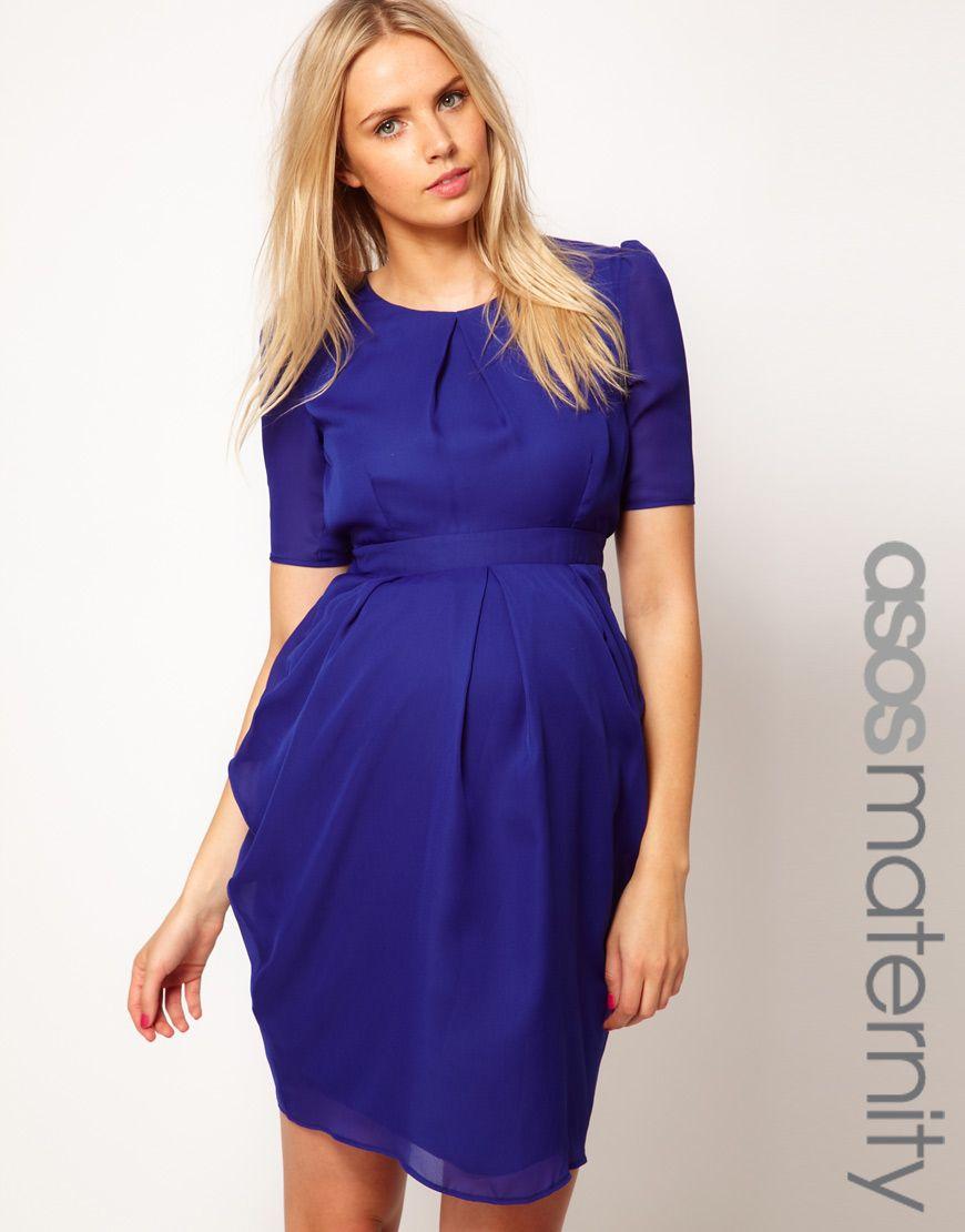 ASOS Maternity Exclusive Tulip Dress. I like for the shower. Big purple oompa loompa!